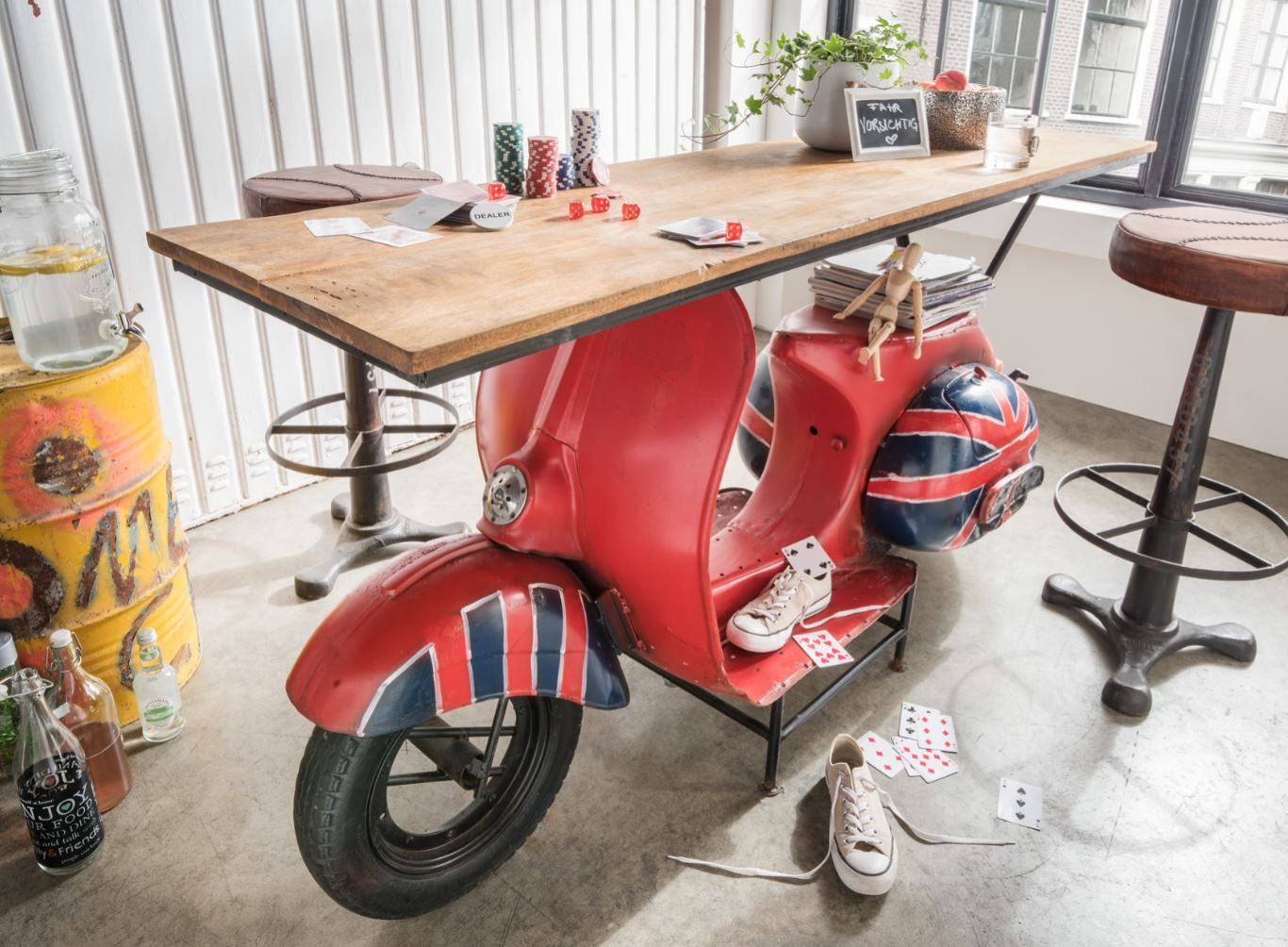 scooter konsolentisch in 2019 auto m bel auto m bel m bel und kreatives design. Black Bedroom Furniture Sets. Home Design Ideas