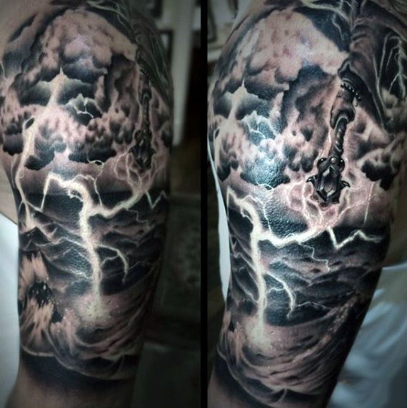 upper-arm-guys-clouds-with-lightning-tattoos.jpg (570×572 ...