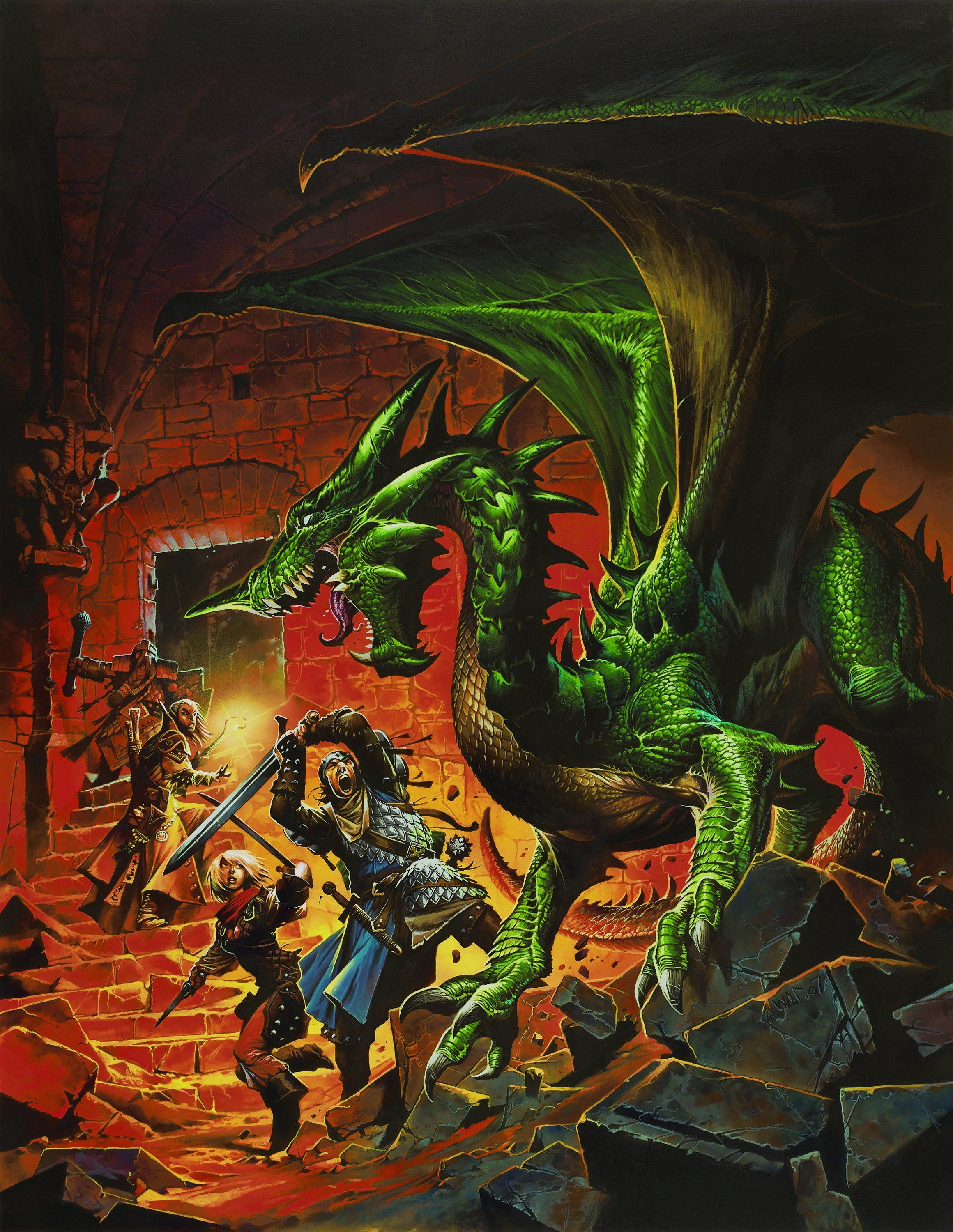 Dungeons and Dragons 4th Edition Dnd 4E Artwork - Dungeons and