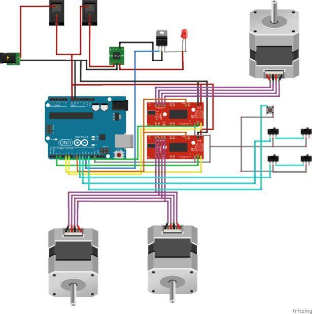 3w 4 X4 Arduino Laser Cutter Engraver Arduino Laser Arduino Cnc Arduino Projects