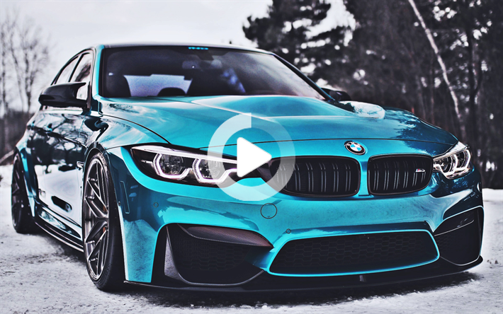 Download Wallpapers Bmw M3 Close Up F80 Tuning 2018 Cars Hdr Blue M3 Supercars German Cars Bmw Wallpapers Bmw New Car Wallpaper