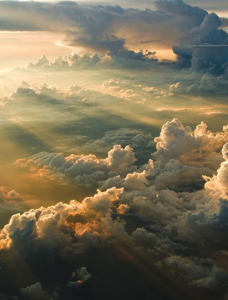 Crepuscular Rays Wallpaper For Phones And Tablets Clouds Sky And Clouds Beautiful Sky