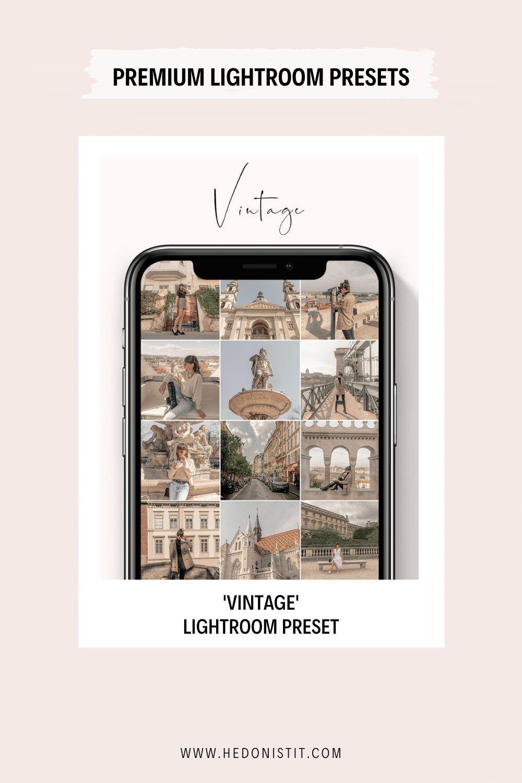 VINTAGE LIGHTROOM PRESET Hedonisitit in 2020 Vintage