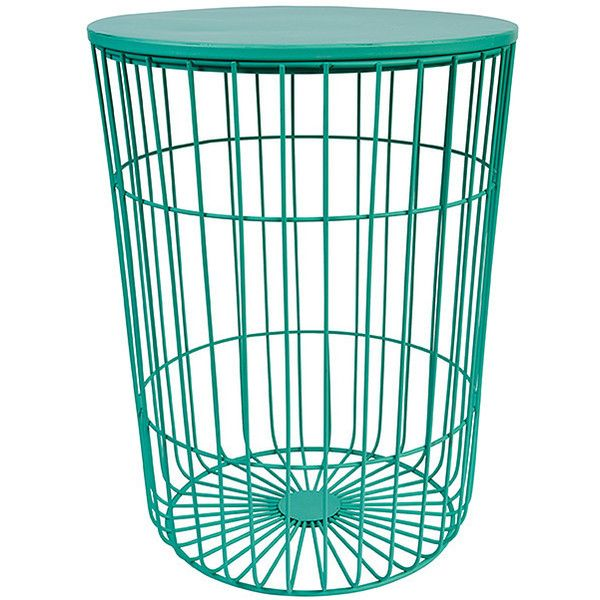 Hudson Wire Frame Side Table Mint Target Australia ($30) ❤ liked on ...
