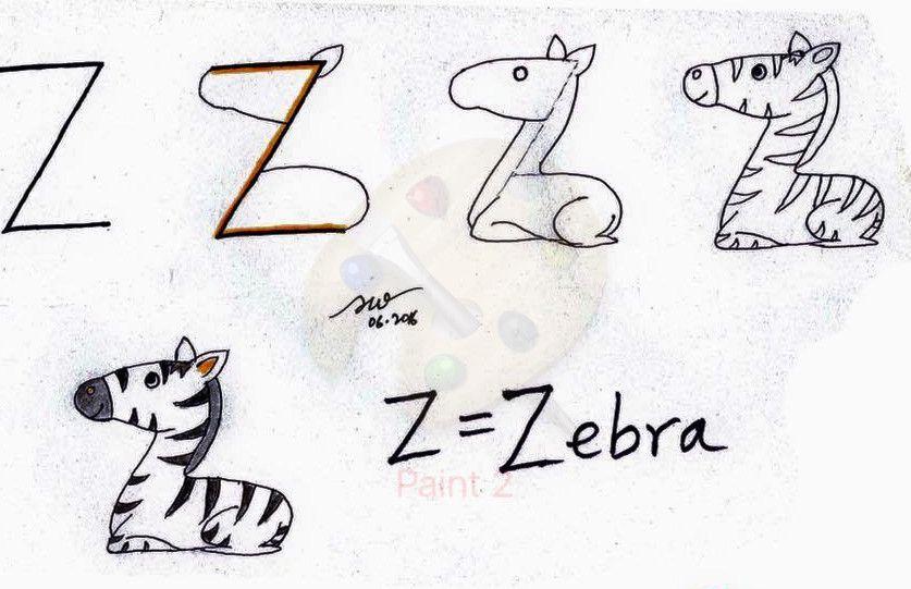 Zebra Resmi Cizimi Cizim Resim Ve Hayvan