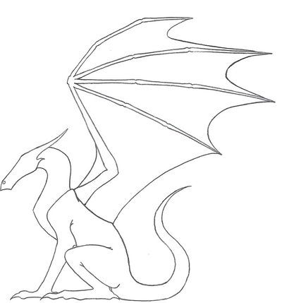 Dragon Outline By Ketharin On Deviantart Dragon Drawing Dragon Silhouette Drawing Tutorial Face