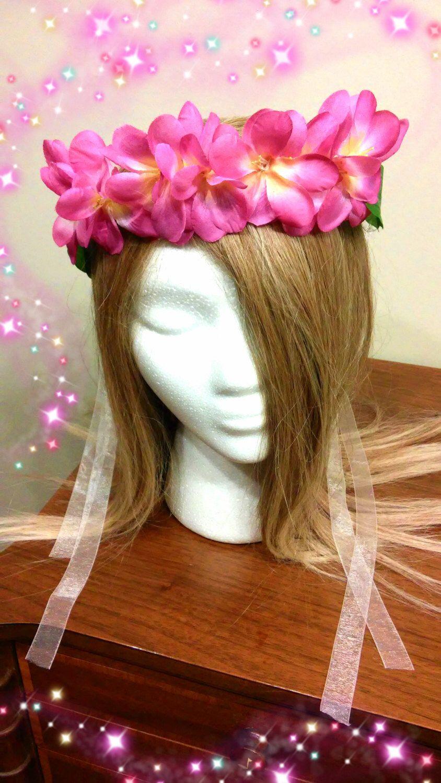 Flower Crown Tropical Beach Luau Party Hawaiian Headband Floral