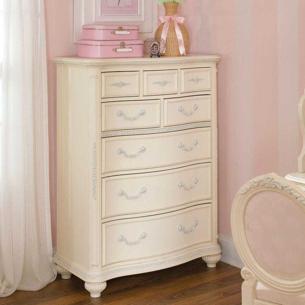 JESSICA MCLINTOCH FURNITURE | Jessica McClintock Antique White Drawer Chest