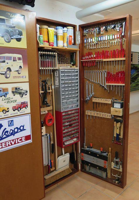 Photo of Lockable tool wall …