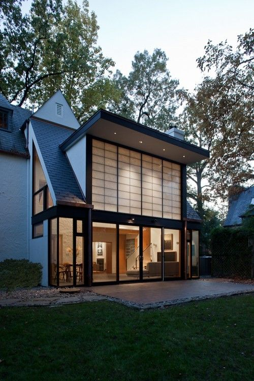 Modern Exterior Home Design Ideas Remodels Photos: Nice Friendly Traditional House Mixed With Some Modern Details.