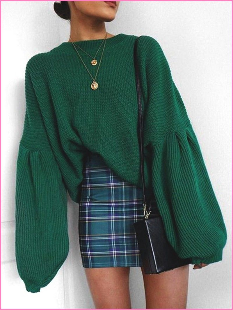 25 aesthetic and stylish plaid skirt outfits ideas you ...