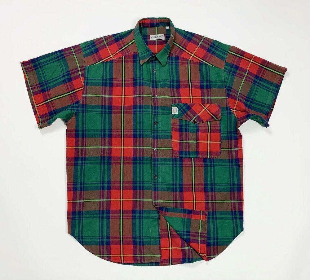 100% originale carino economico qualità perfetta Ohaio camicia shirt uomo usato XL estiva verde boscaiolo ...