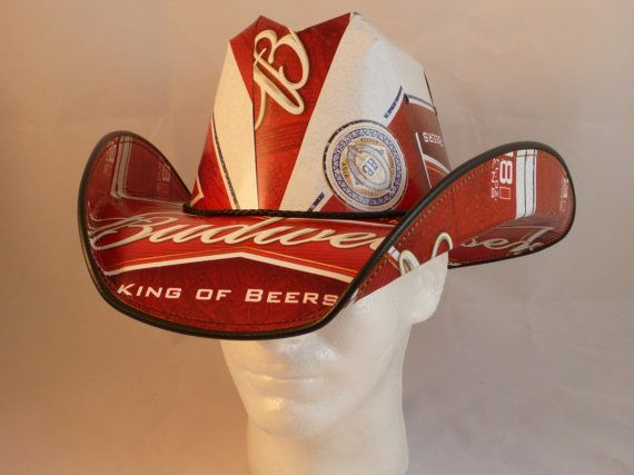 e8b2b120ace Beer Box Cowboy Hats. Made from recycled Budweiser beer boxes. Beerhat.