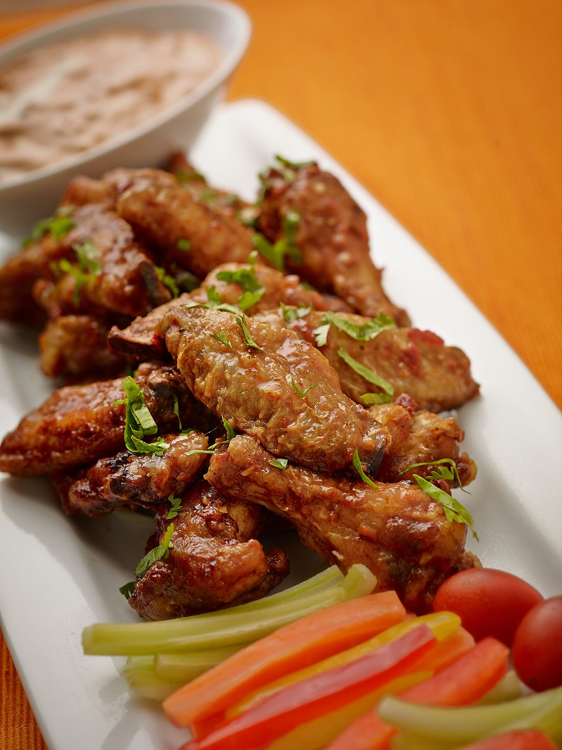 Recipes Super Bowl Party Chicken Wings Chipotle Sour Cream Recipe Chicken Wing Recipes