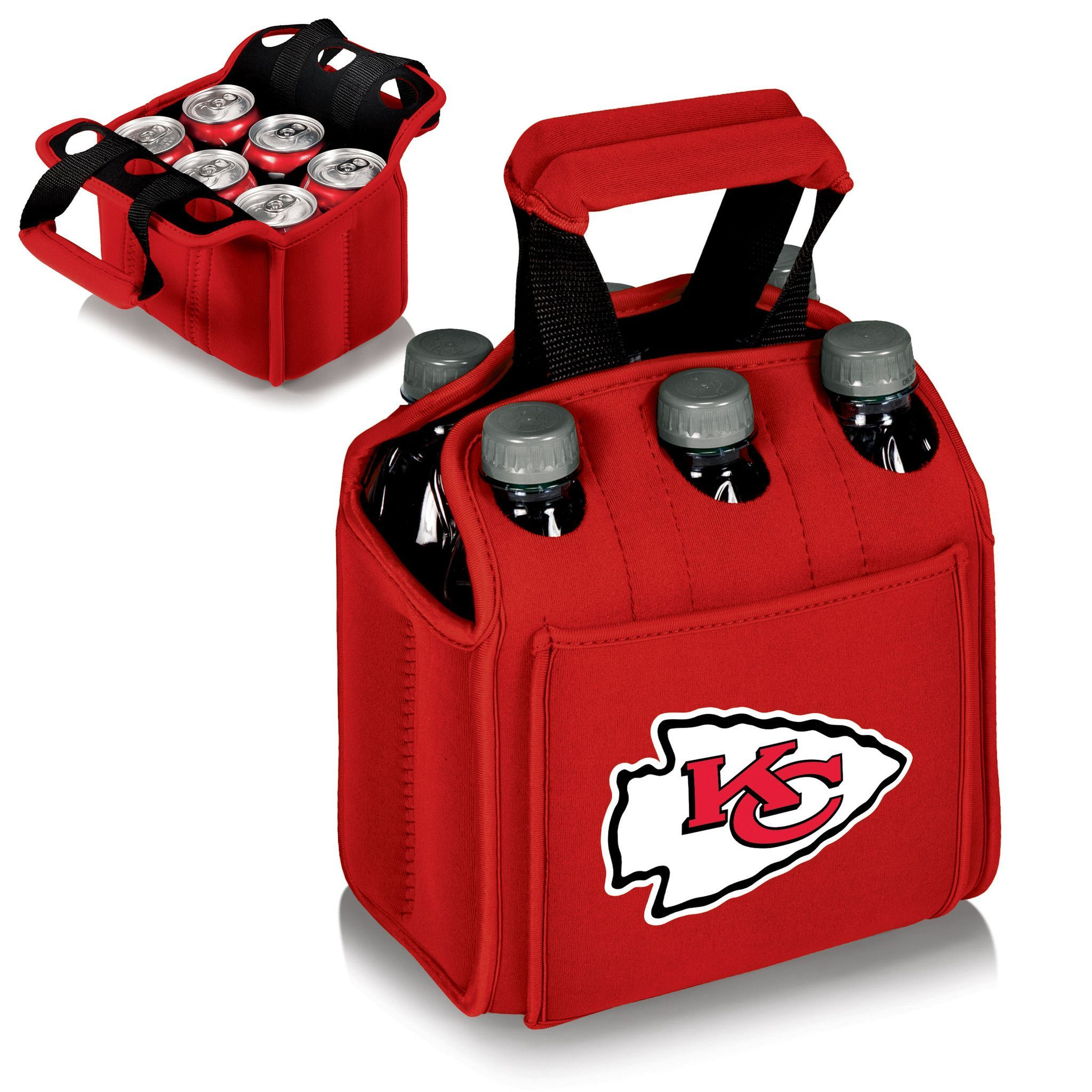 Six Pack Kansas City Chiefs Drink Carrier Texas Tech Red Raiders Six Packs