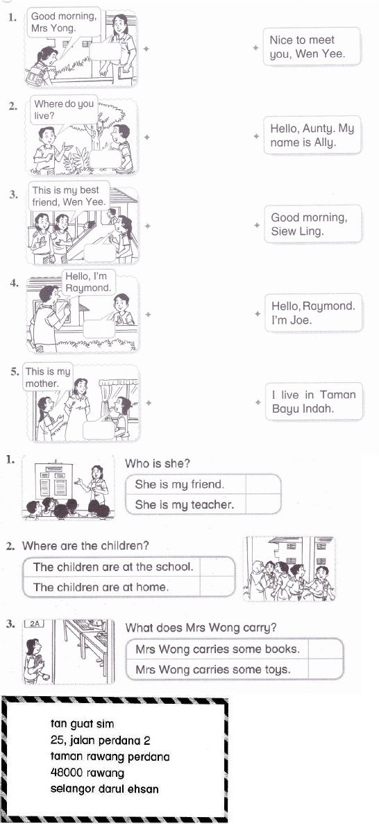 English worksheets for year 1 pdf