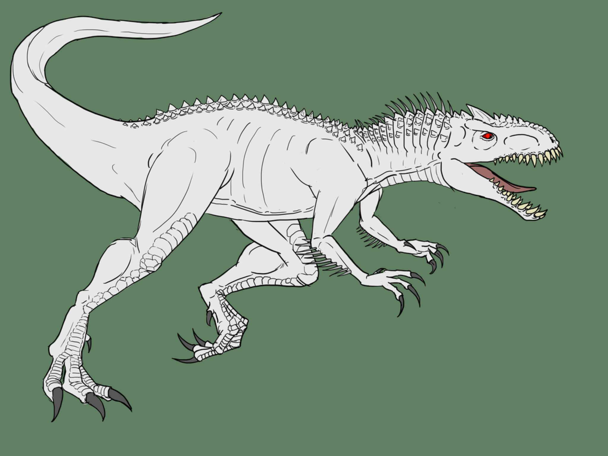 Indominus Rex (Base Colored) by Enneigard on DeviantArt