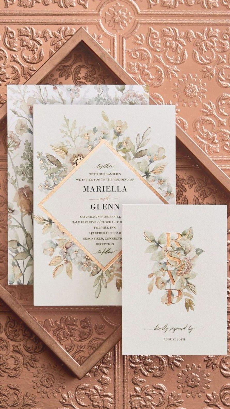 32 Beautiful Image Of Amazing Wedding Invitations Amazing Wedding Invitations Gorgeous Wedding Invitations With Copper I 2020 Bryllupsinvitation Invitationer Bryllup