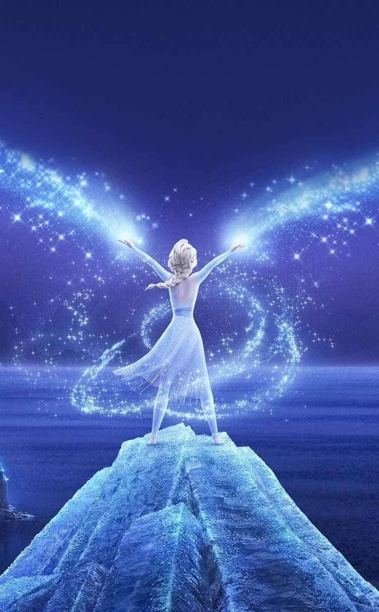 Papel De Parede Elsa Frozen 2 Dengan Gambar Putri Disney Kartun Disney Karakter Disney