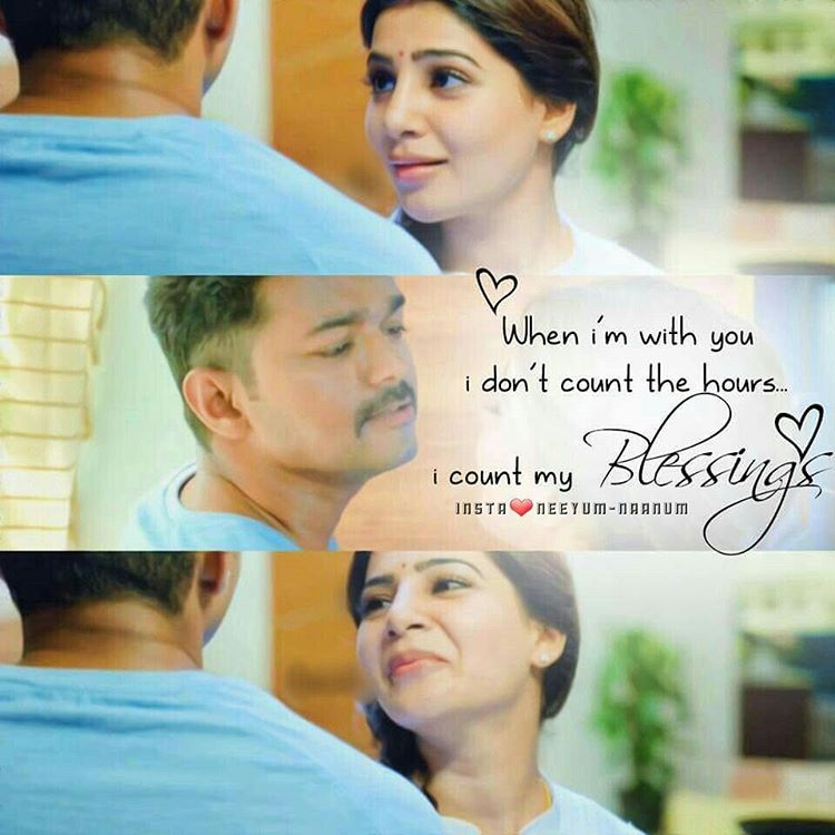 Theri Movie Images With Quotes: Ahwwww #theri #vijay #samantha