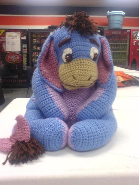 Crochet Eeyore, love this, wish i could make him