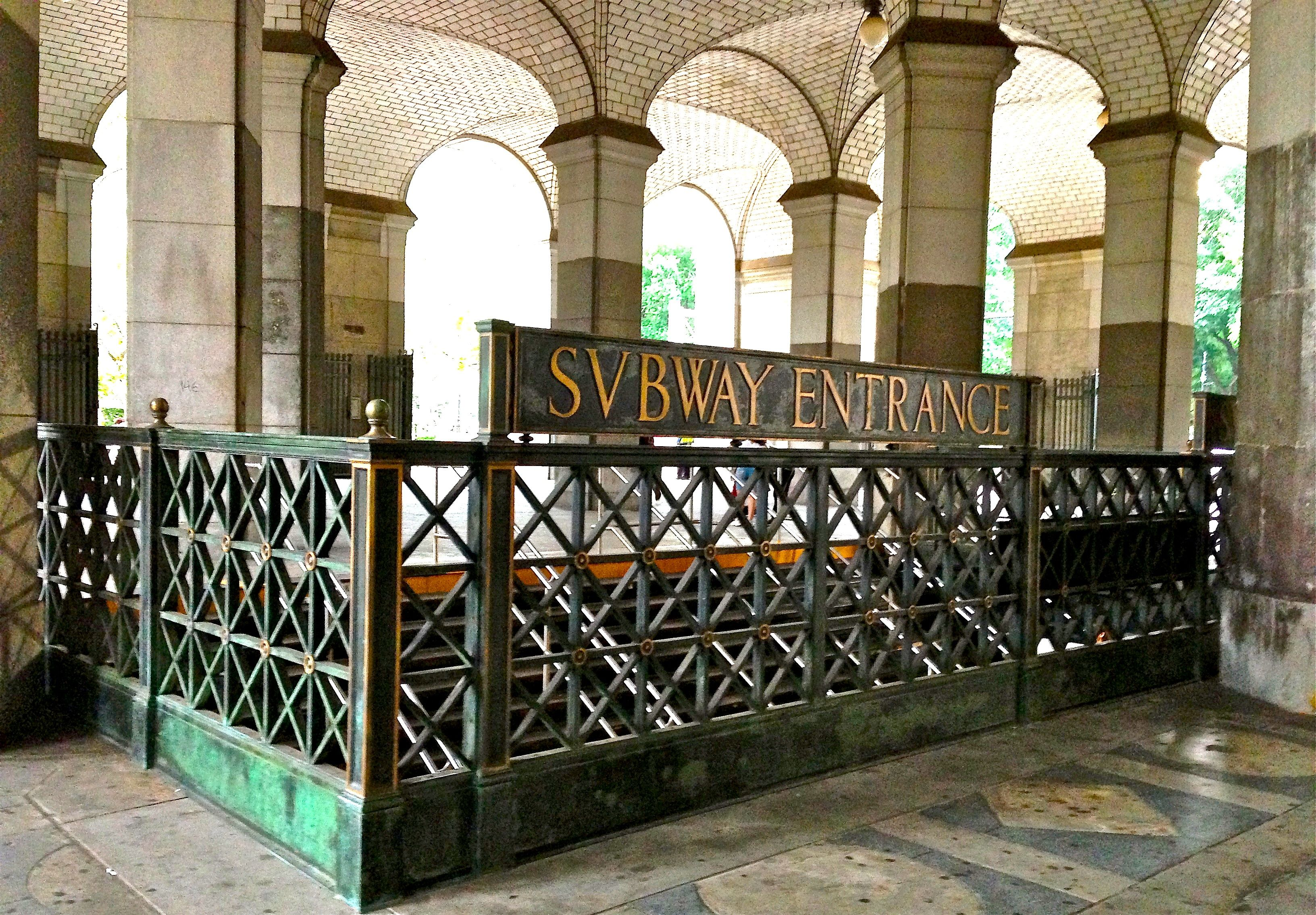 "Municipal Archives Building, and ""Svbway"" subway entrance, constructed during NYC's Gilded Age, by the architectural firm of Mckim, Mead, and Stanford White. Description from pinterest.com. I searched for this on bing.com/images"
