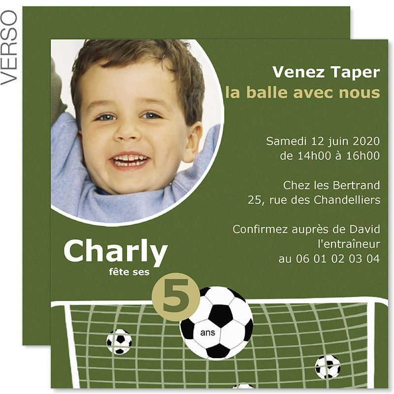 carte d 39 invitation anniversaire gar on 8 ans carte invitation anniversaire invitations football. Black Bedroom Furniture Sets. Home Design Ideas