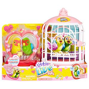 Little Live Pets Love Birds With Cage Target Australia Little Live Pets Pets Pet Birds