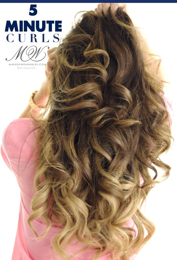 How to curl your hair in minutes click to watch hairstyles