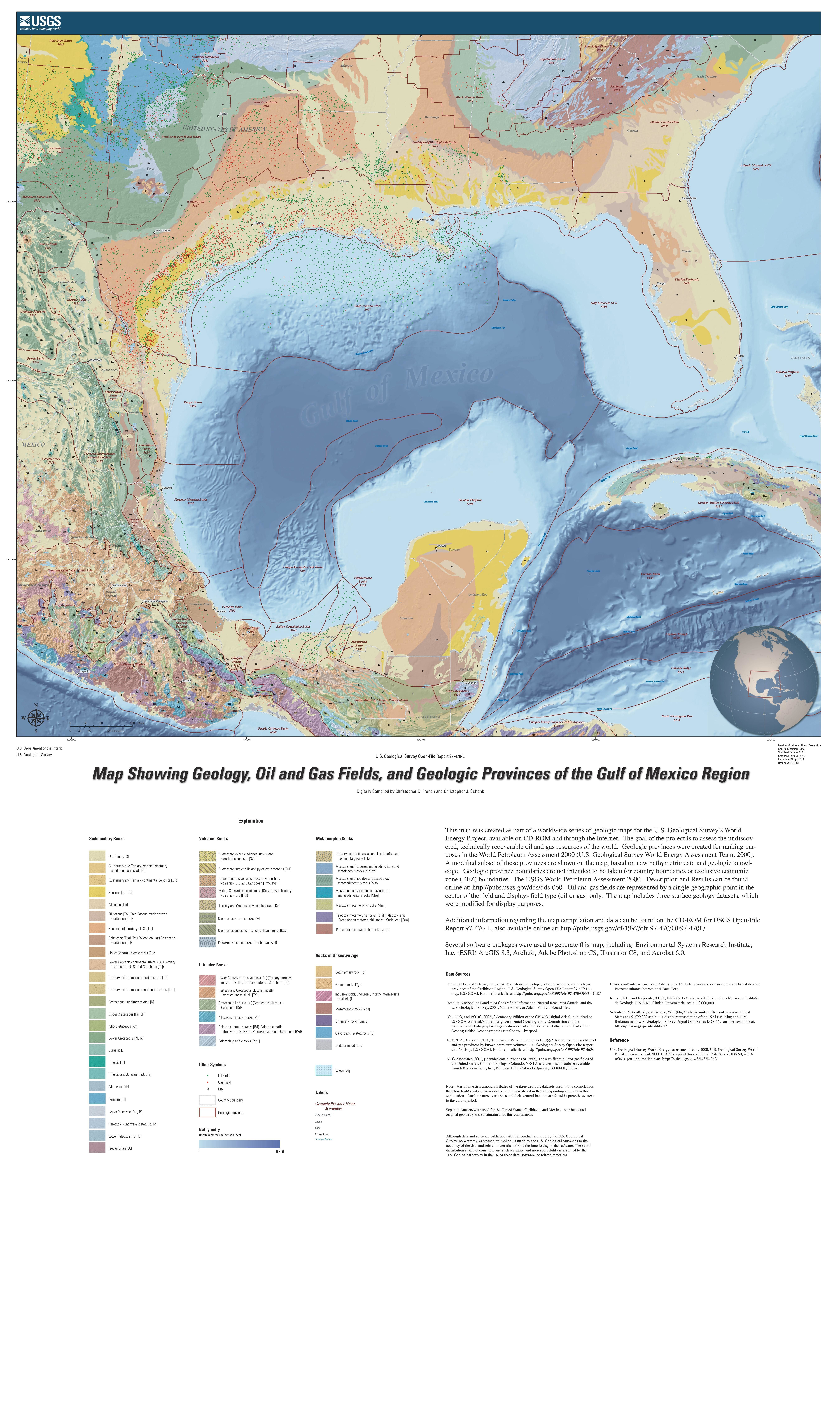 usgs geologic map of the gulf of mexico