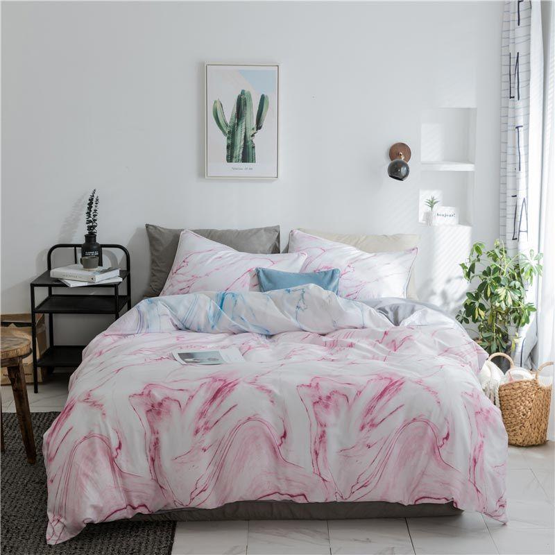 Popular Simple Bedding Set Creative Unique Ink Bedclothes Cotton Printing 4pcs Duvet Cover Sets Luxury Bedding Master Bedroom Bedding Sets Bed Linens Luxury