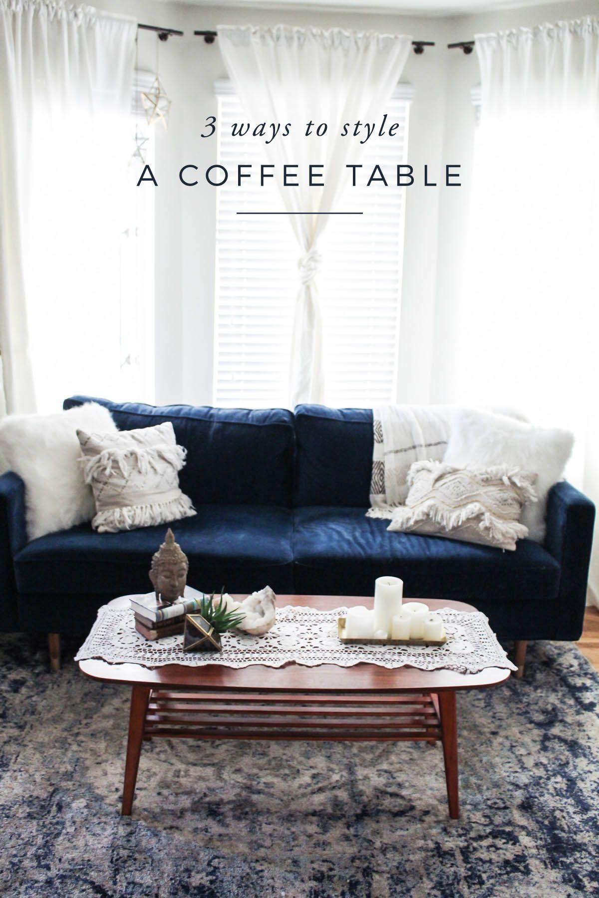3 ways to style a coffee table Living Home Decor