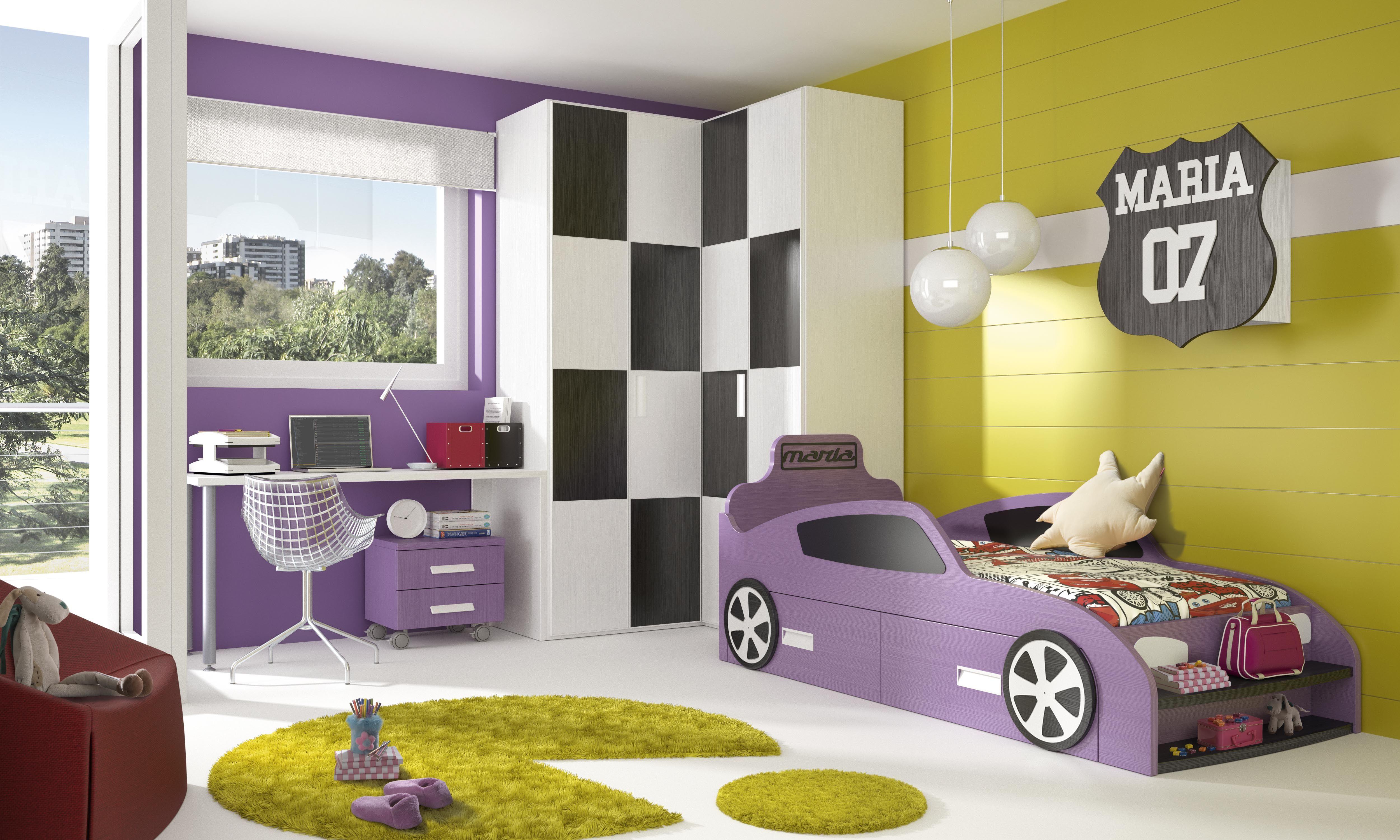 Habitaciones infantiles tem ticas dibujos animados coches6 - Muebles para cuarto de nina ...