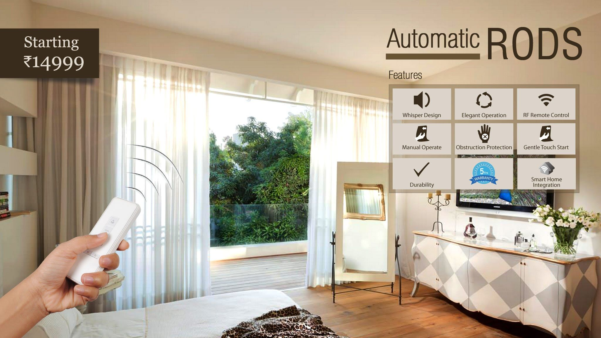 Automatic Curtain Rod From Decowindow Curtains Curtain Rods