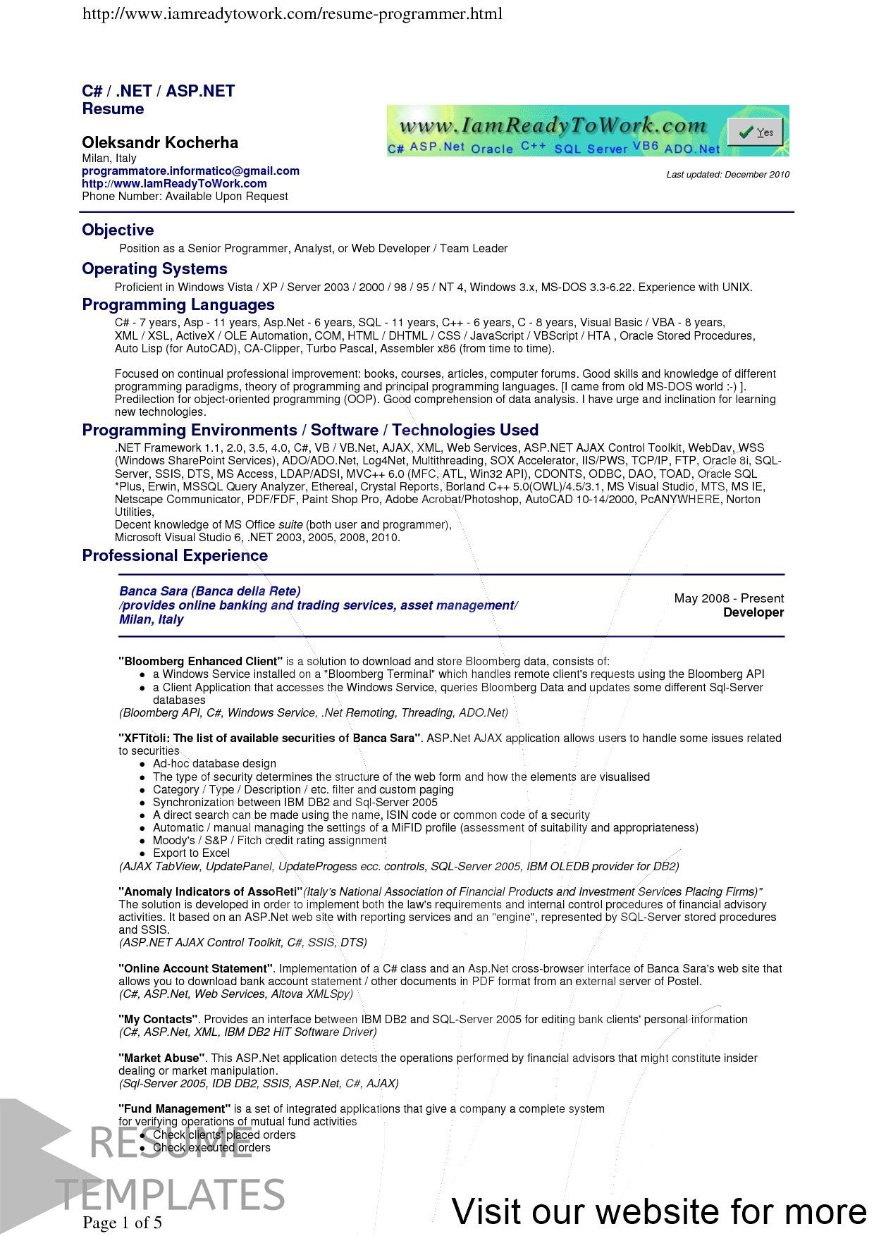 31 Free Resume Templates Editable Job Resume Examples Resume Template Free Job Resume Template