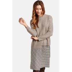 Photo of Pullover mit Strickmischung beige Gerry WeberGerry Weber