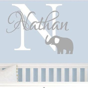 Shop Elephant Baby Wall Decals On Wanelo Scan N Cut Stuffs - Nursery wall decals elephant