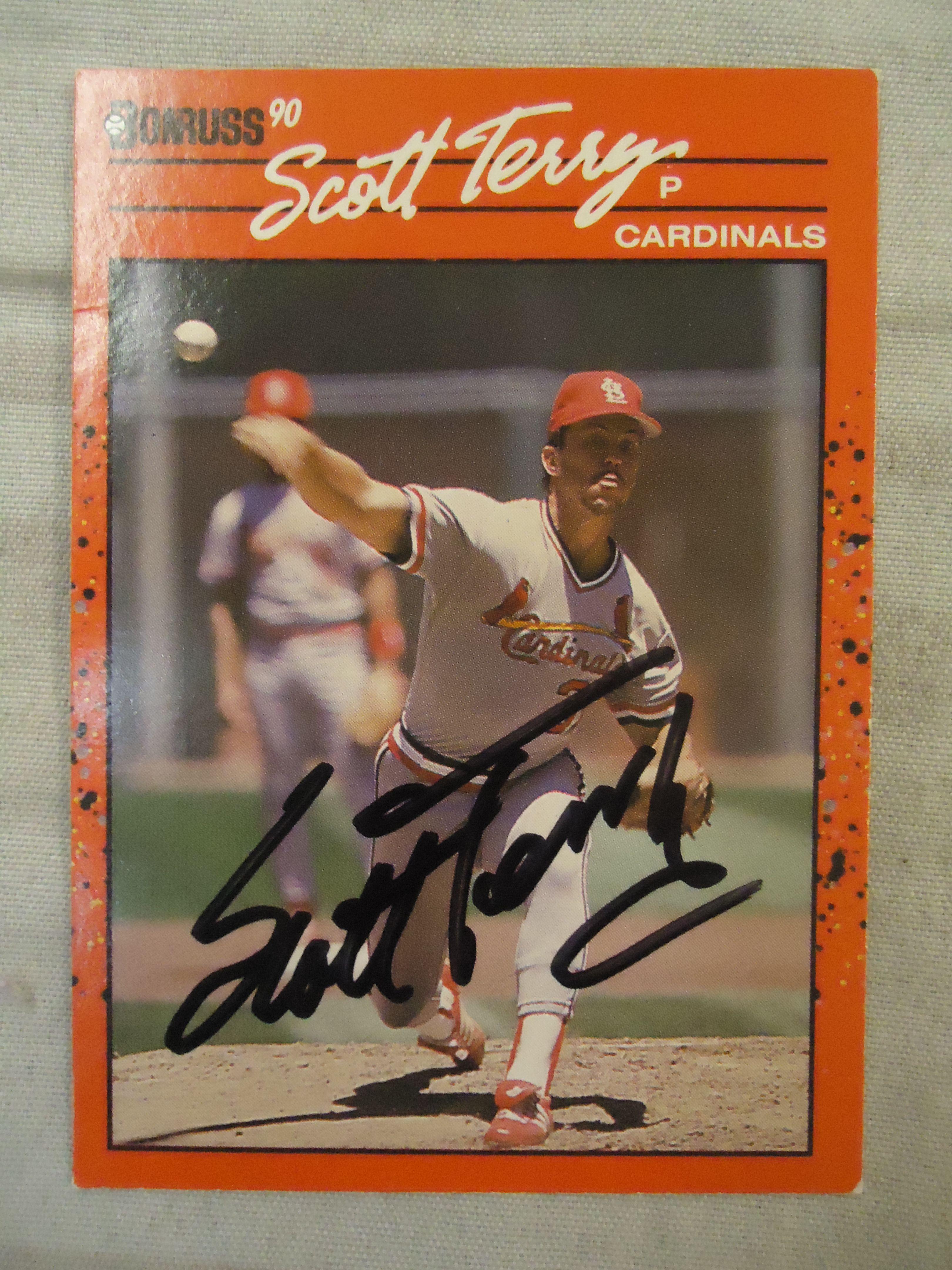1990 donruss scott terry ttm baseball cards terry
