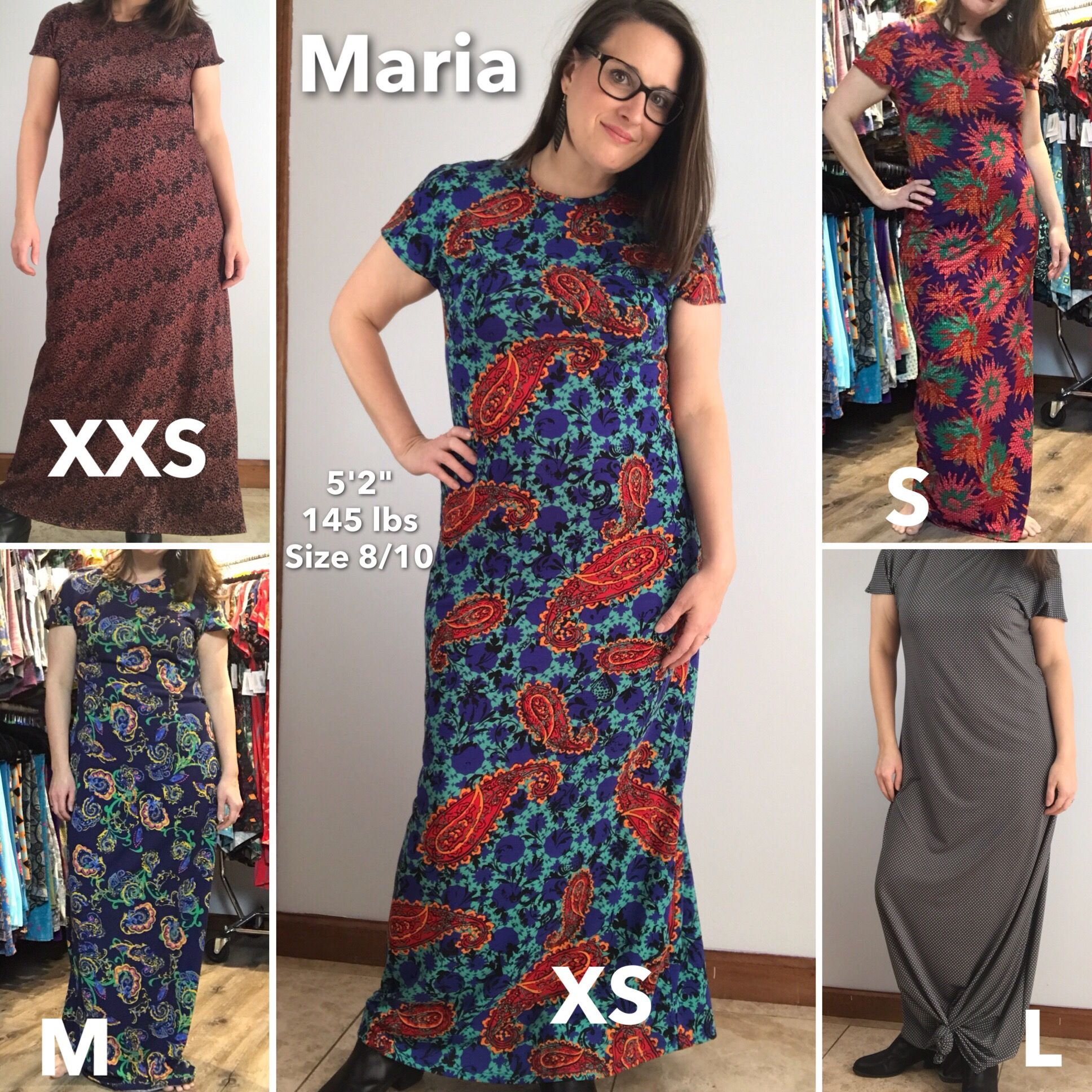 c60c9123929 Lularoe Maria dress worn in different sizes.
