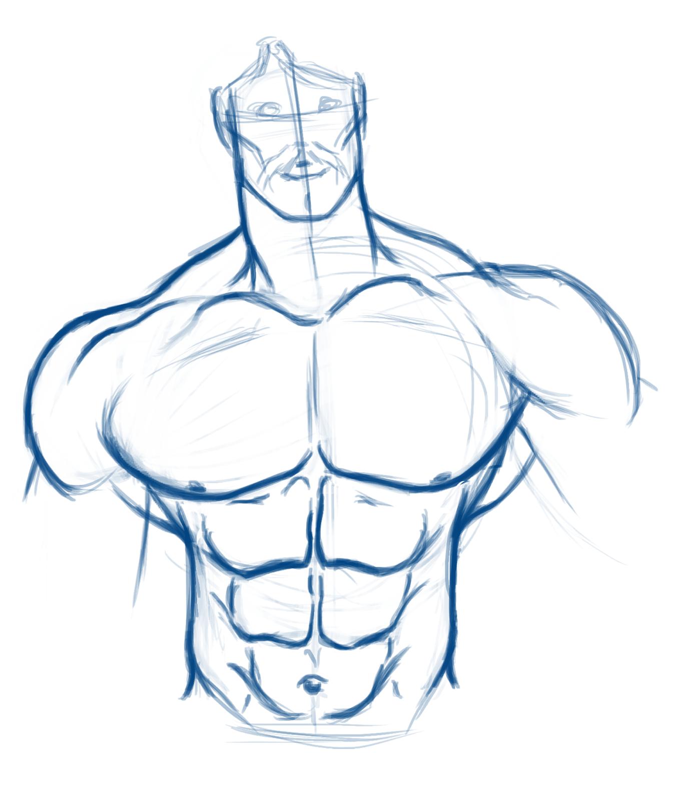 Мужское тело картинки карандашом