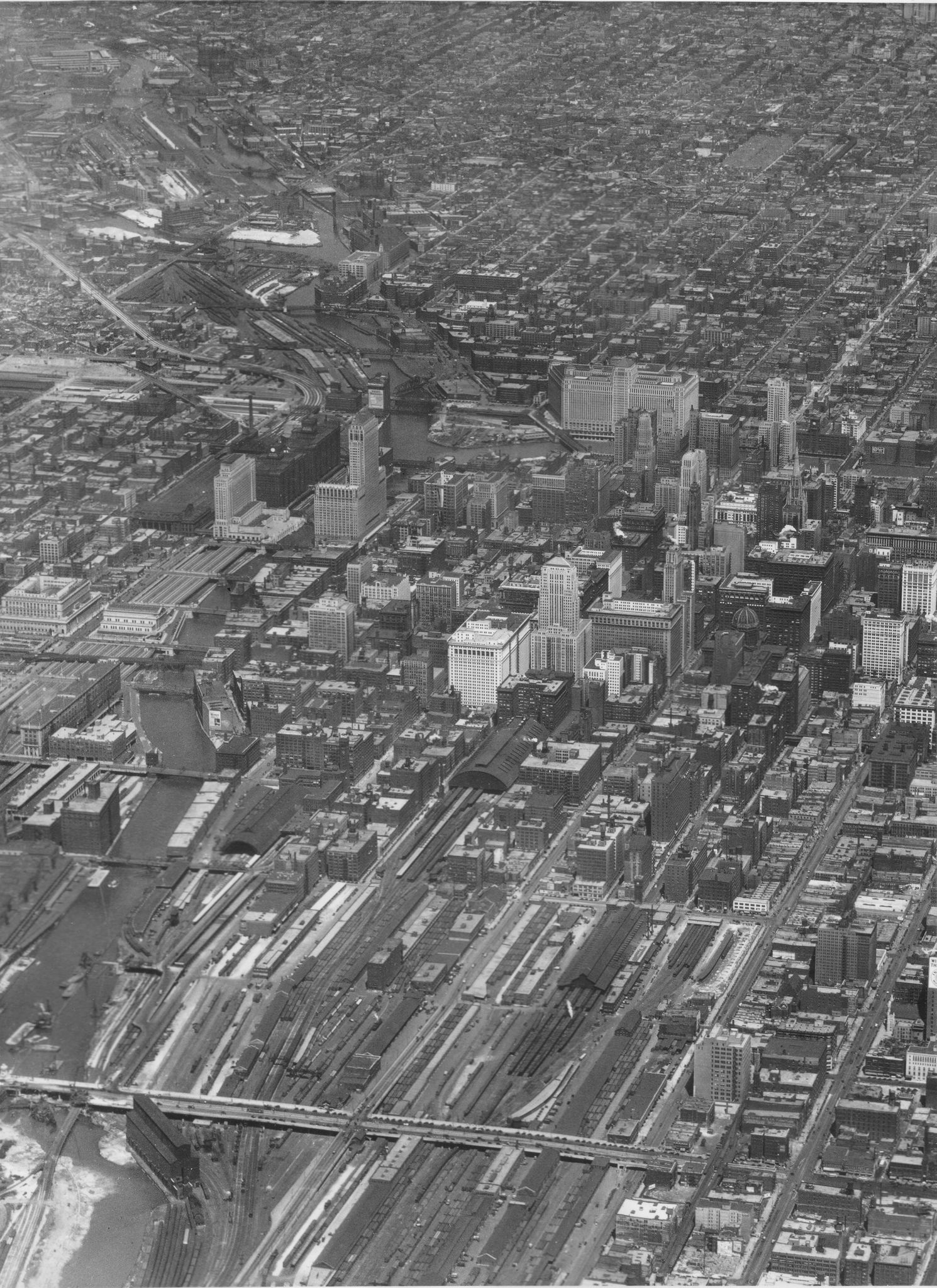 Downtown Chicago From Above 1930 Chicago Pictures Chicago Photos Photo