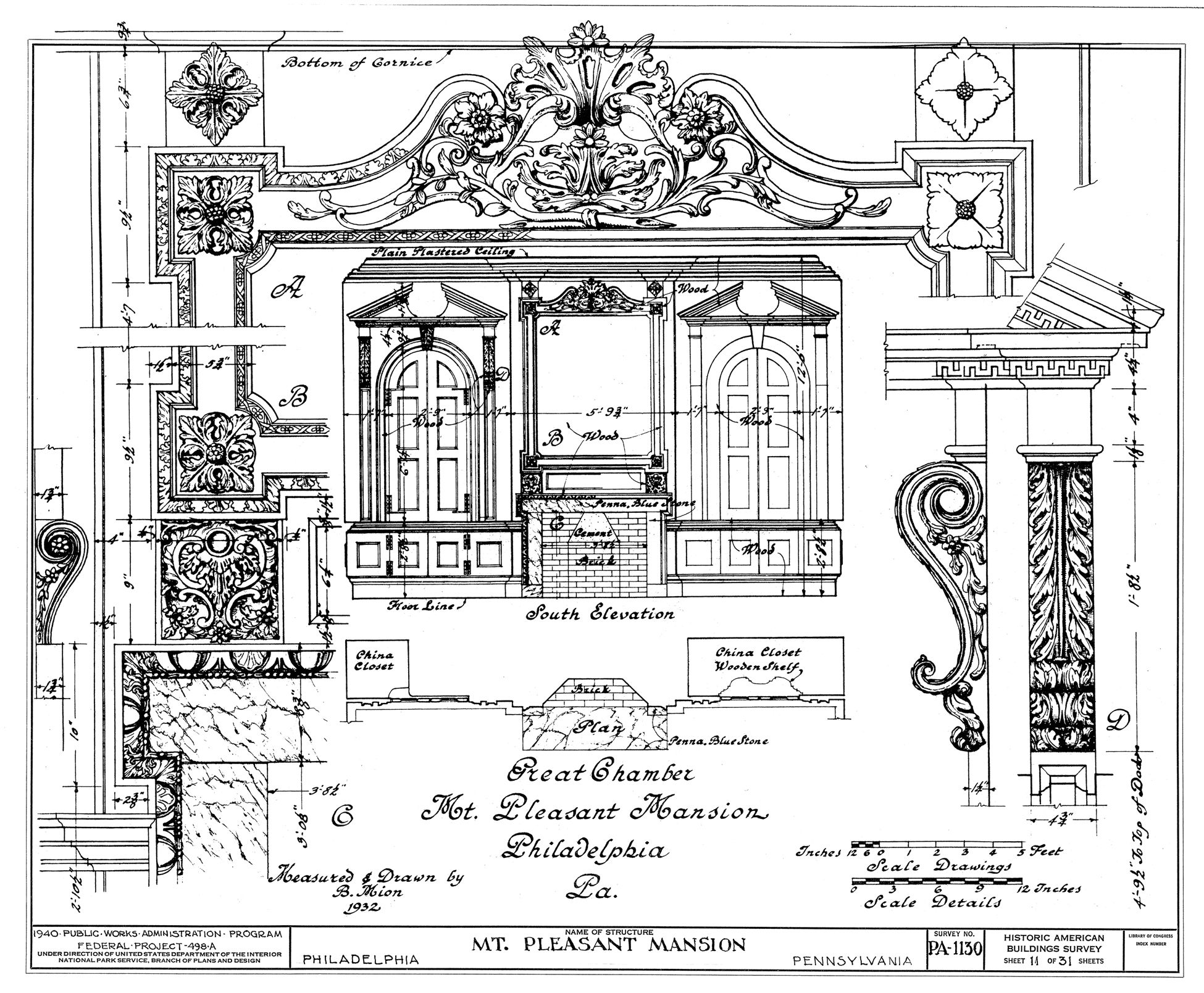 Rococo furniture sketch - Chimney Elevation And Details Architectural Design Construction Pinterest Architectural Drawings