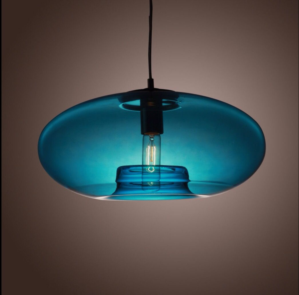 Modern blue bubble design elegant pendant light shade pendant blue bubble pendant light shade mozeypictures Choice Image