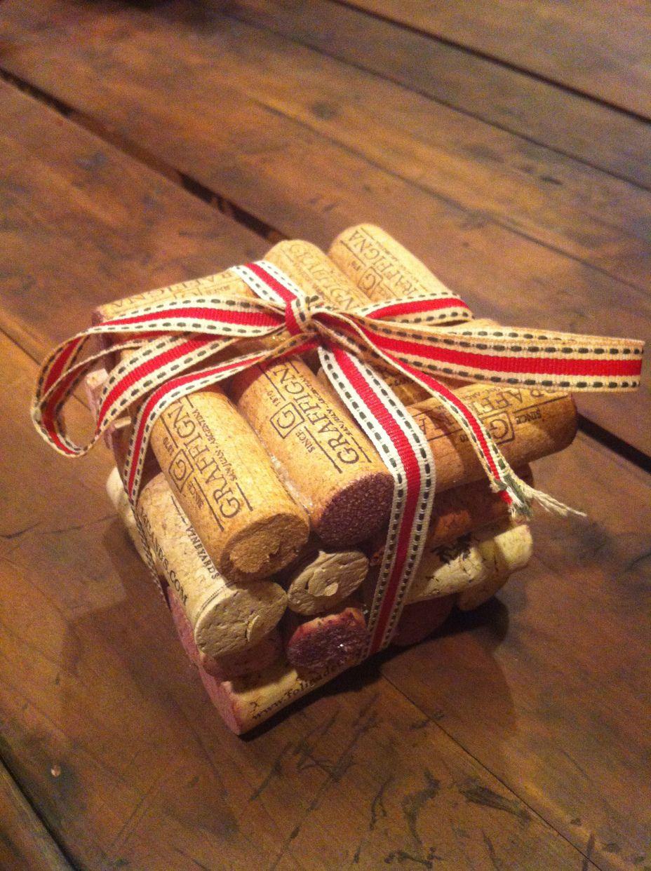 Diy cork coaster wine cork coasters christmas diy cork diy