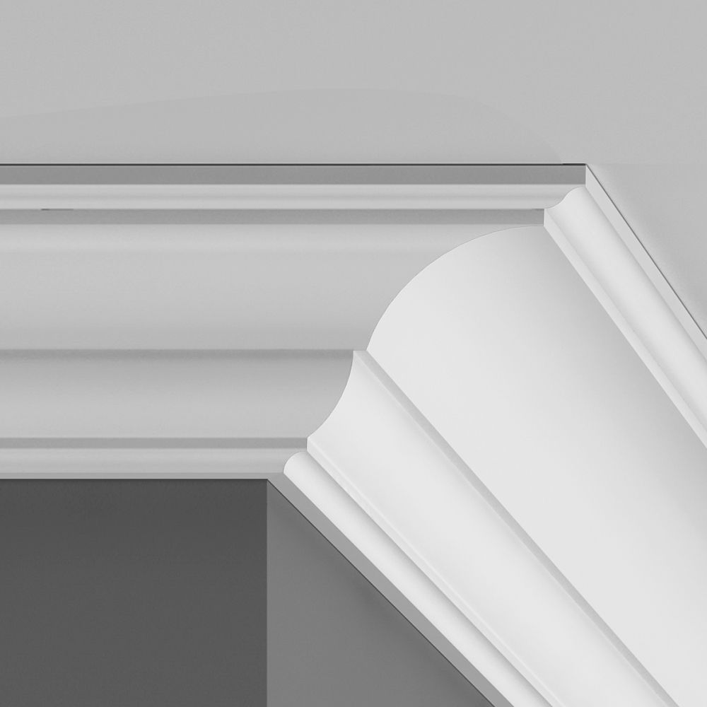 Colours Duropolymer White Coving External Corner L 200mm