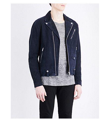3f8e0037cb THE KOOPLES Biker Collar Suede Jacket. #thekooples #cloth #coats & jackets