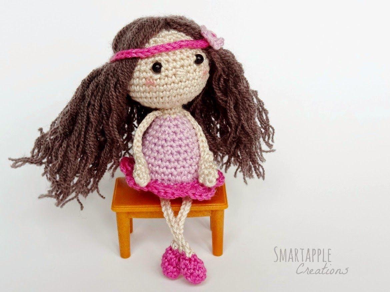 Amigurumi Doll Patterns : Tiny amigurumi doll free pattern by double treble trinkets