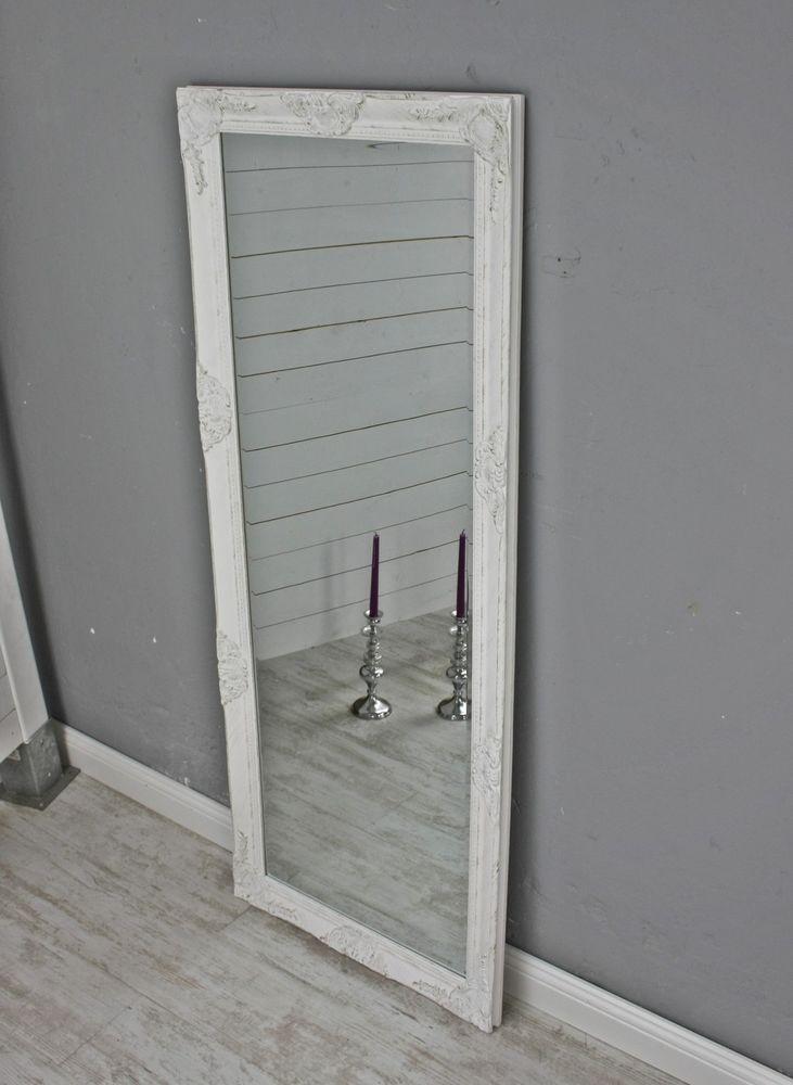 Spiegel Standspiegel details zu spiegel weiß antik 150 x 60 cm holz wandspiegel barock