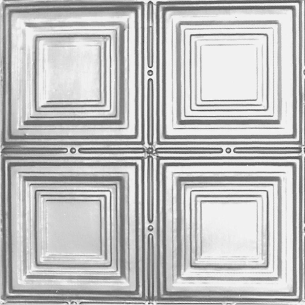 Ft X Ft NailupDirect Application Tin Ceiling Tile In Clear - 12 inch ceiling tiles home depot
