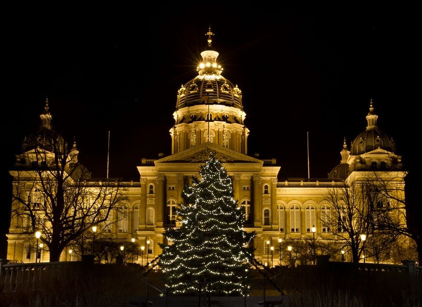 2020 Christmas Tree Lighting Iowa Christmas Tree, State Capitol, Des Moines, Iowa | Iowa, Des moines